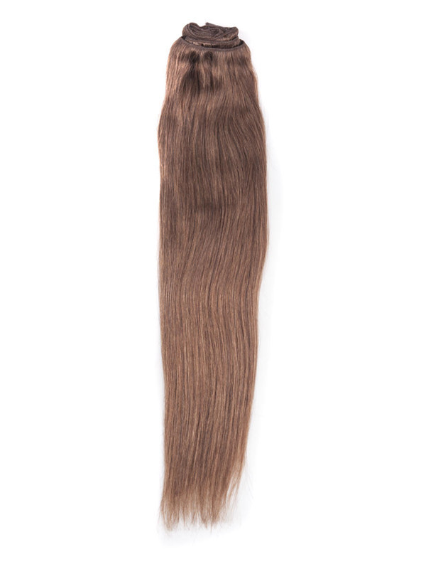 Light Chestnut(#8) Ultimate Straight Clip In Remy Hair Extensions 9 Pieces cih054 2