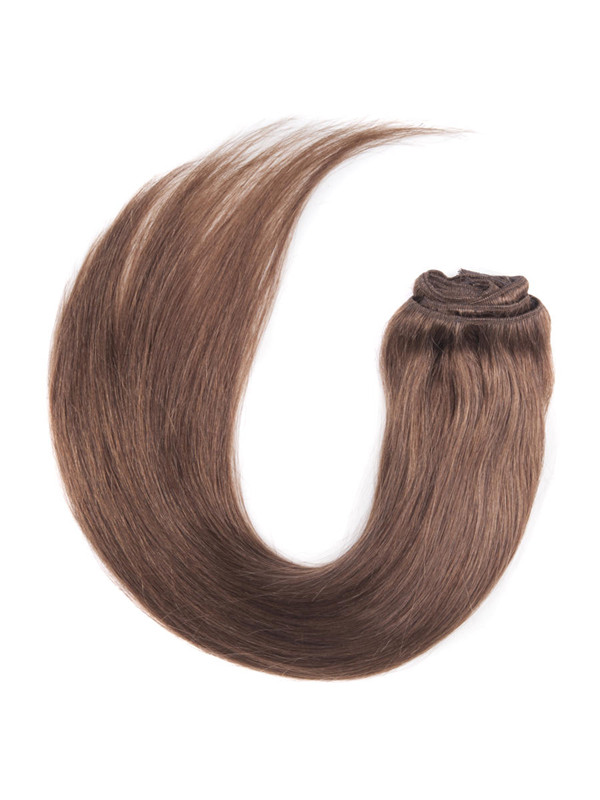 Light Chestnut(#8) Ultimate Straight Clip In Remy Hair Extensions 9 Pieces cih054 3