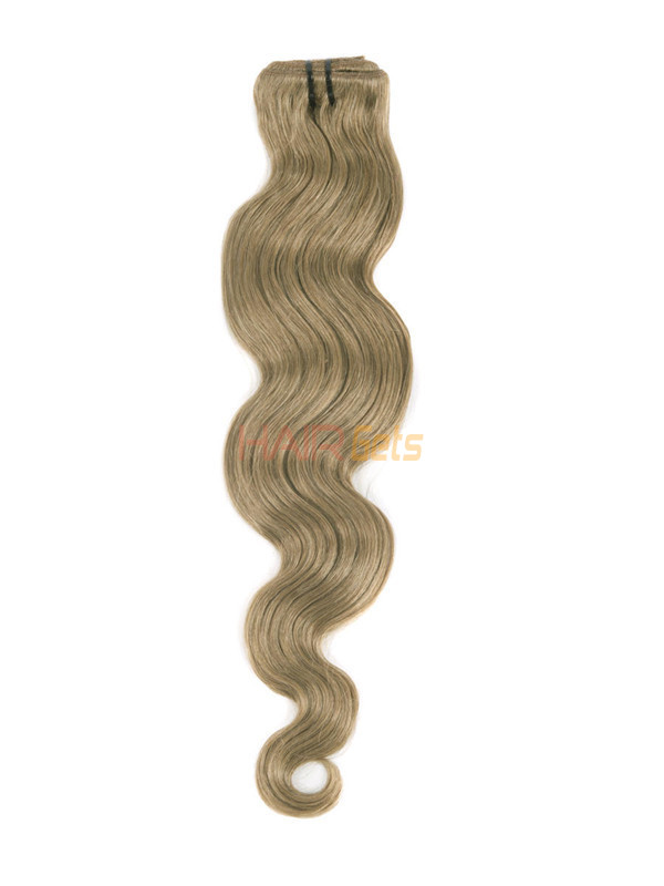 Light Golden Brown(#12) Premium Body Wave Clip In Hair Extensions 7 Pieces 4