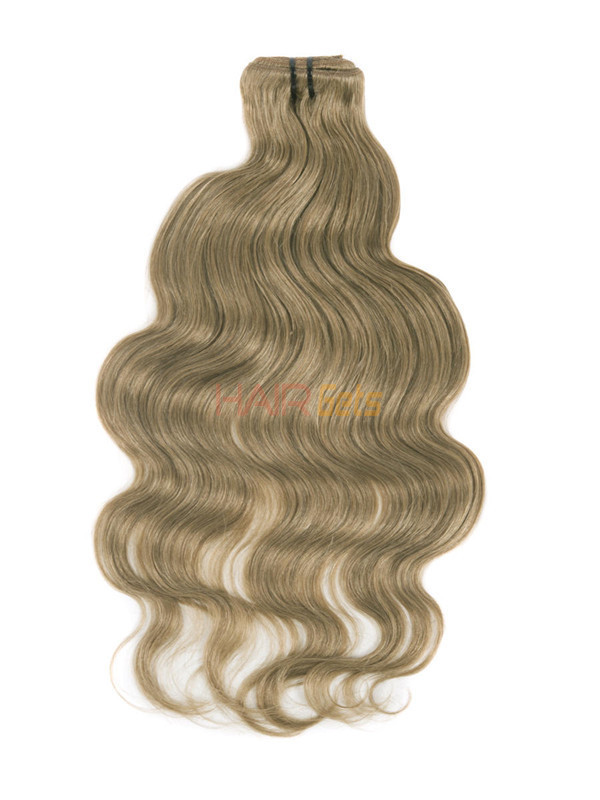 Light Golden Brown(#12) Ultimate Body Wave Clip In Remy Hair Extensions 9 Pieces-np 1