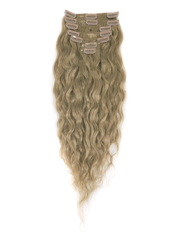 Light Golden Brown(#12) Premium Kinky Curl Clip In Hair Extensions 7 Pieces cih058 1