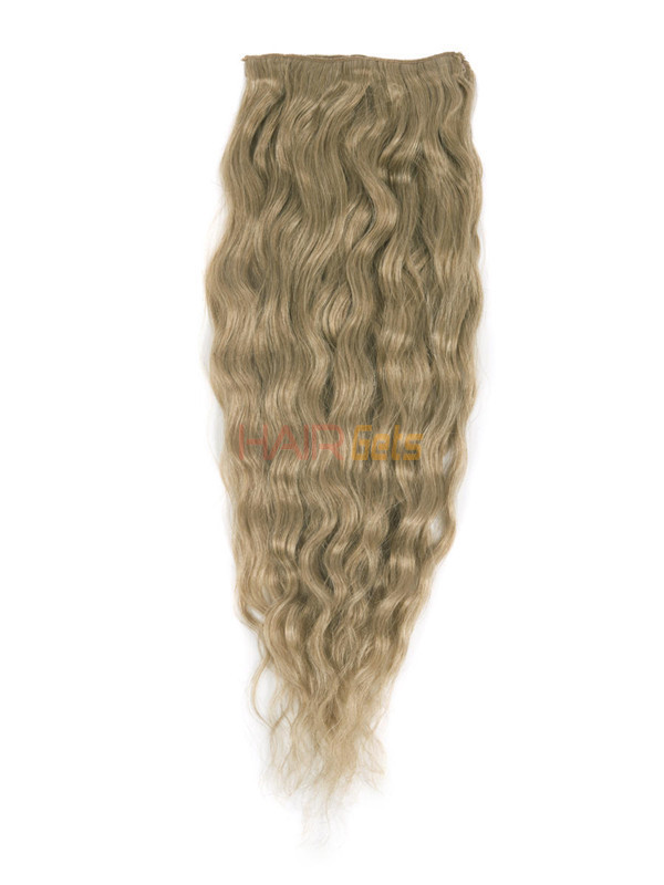Light Golden Brown(#12) Ultimate Kinky Curl Clip In Remy Hair Extensions 9 Pieces-np 0