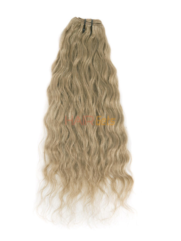 Light Golden Brown(#12) Ultimate Kinky Curl Clip In Remy Hair Extensions 9 Pieces-np 1