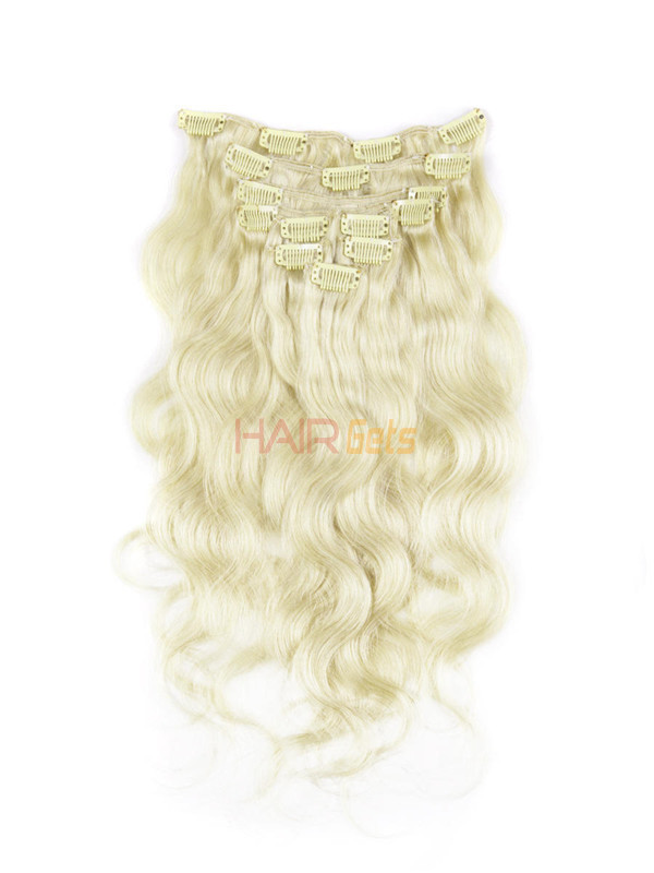 Medium Blonde(#24) Ultimate Body Wave Clip In Remy Hair Extensions 9 Pieces 1