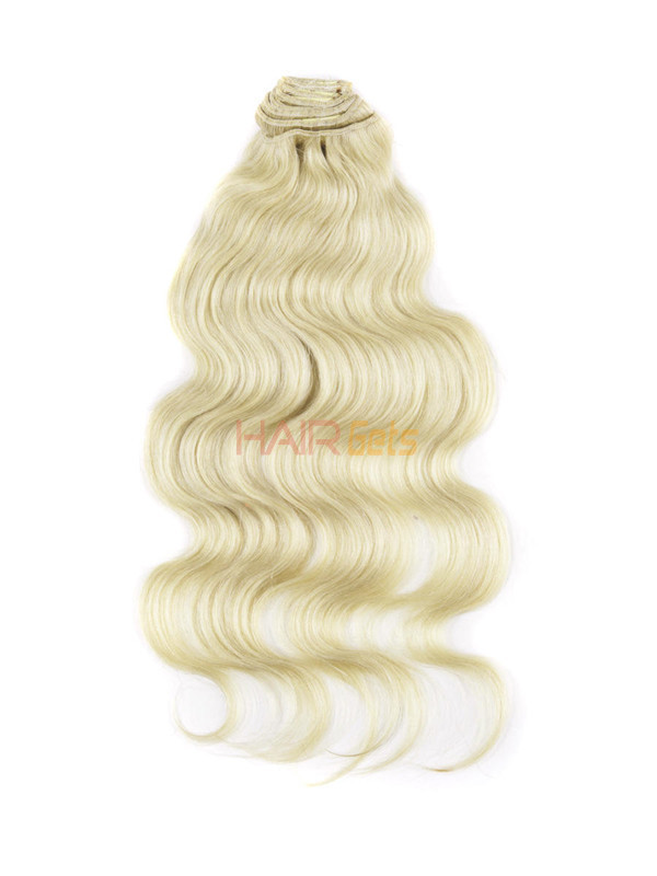 Medium Blonde(#24) Ultimate Body Wave Clip In Remy Hair Extensions 9 Pieces 2