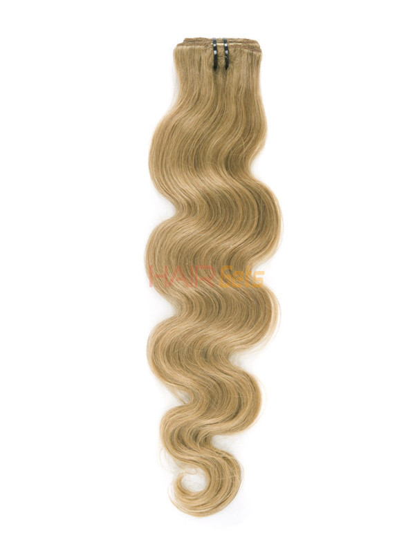 Strawberry Blonde(#27) Deluxe Body Wave Clip In Human Hair Extensions 7 Pieces 1