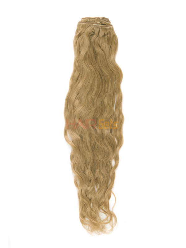 Strawberry Blonde(#27) Premium Kinky Curl Clip In Hair Extensions 7 Pieces 1