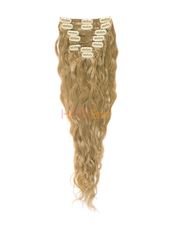 Strawberry Blonde(#27) Premium Kinky Curl Clip In Hair Extensions 7 Pieces 2