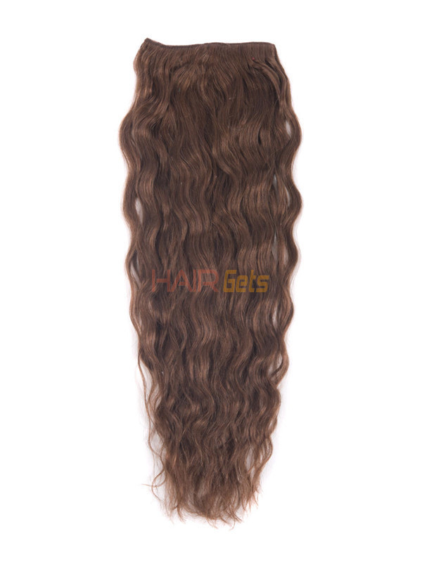 Dark Auburn(#33) Premium Kinky Curl Clip In Hair Extensions 7 Pieces 1