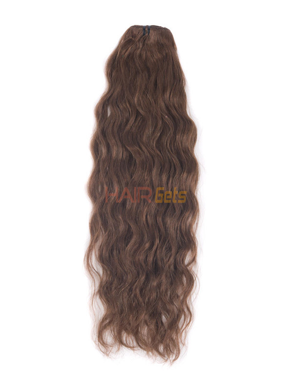 Dark Auburn(#33) Premium Kinky Curl Clip In Hair Extensions 7 Pieces 2