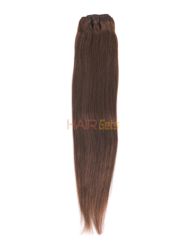 Dark Auburn(#33) Premium Straight Clip In Hair Extensions 7 Pieces 3