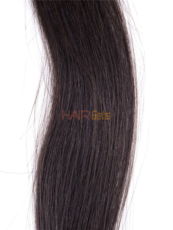 50 Piece Silky Straight Remy Stick Tip/I Tip Hair Extensions Natural Black(#1B) 2