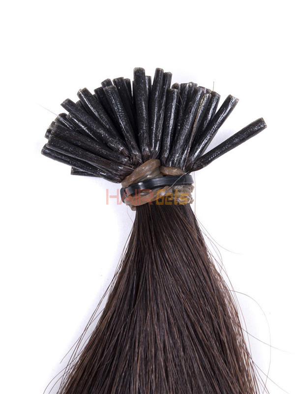 50 Piece Silky Straight Remy Stick Tip/I Tip Hair Extensions Natural Black(#1B) 3