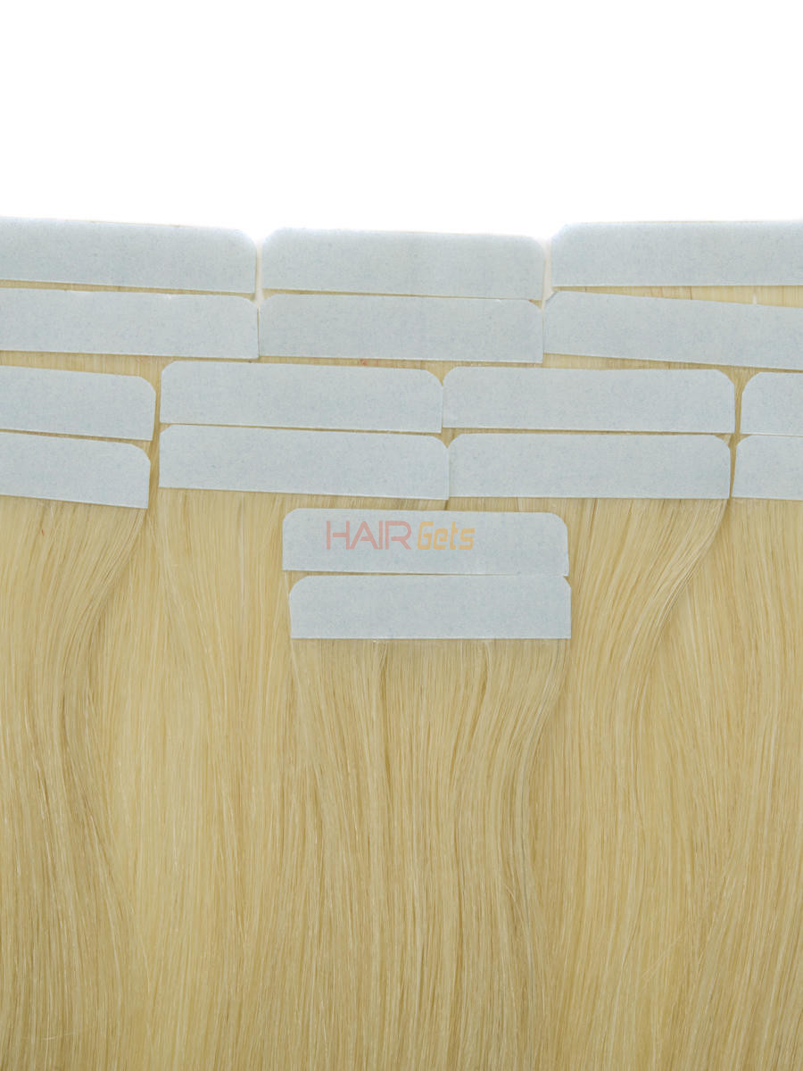 Tape In Human Hair Extensions 20 Piece Silky Straight Medium Blonde(#24) 1