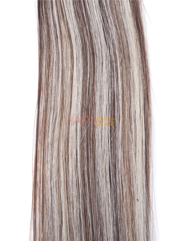 50 Piece Silky Straight Remy Nail Tip/U Tip Hair Extensions Brown/Blonde (#P4/22) 3