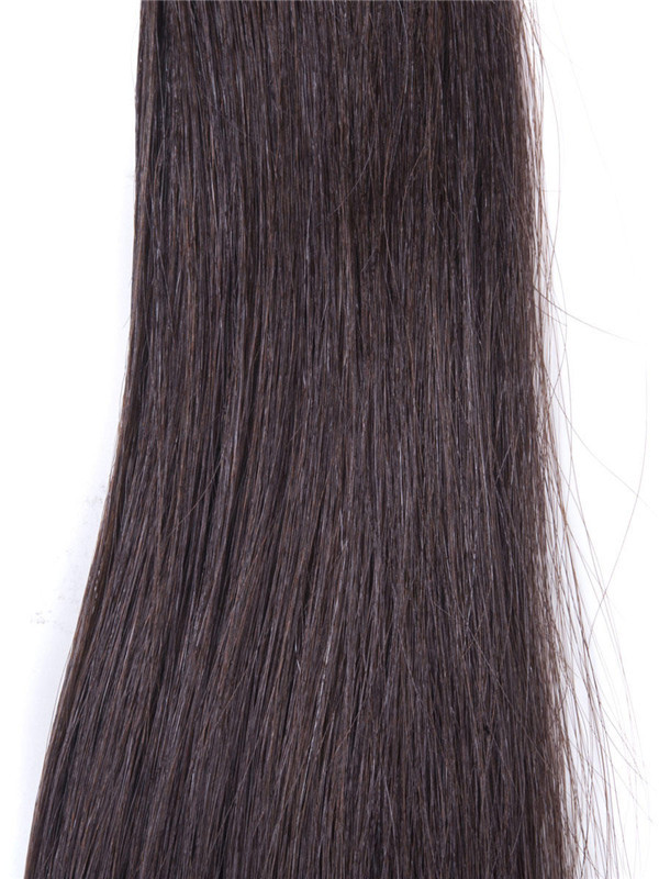 50 Piece Silky Straight Remy Nail Tip/U Tip Hair Extensions Dark Brown(#2) uth006 4