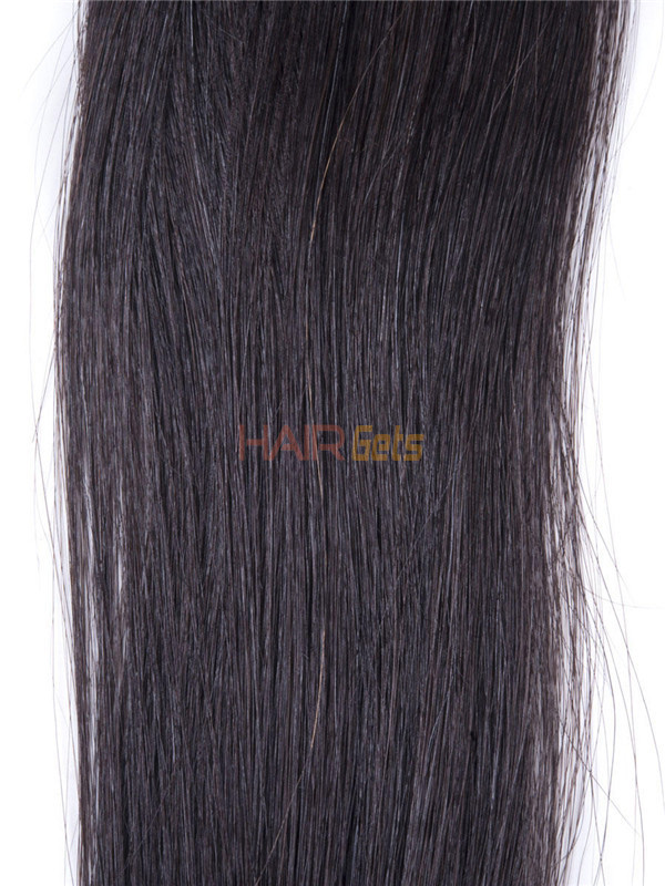 50 Piece Silky Straight Remy Nail Tip/U Tip Hair Extensions Natural Black(#1B) 4