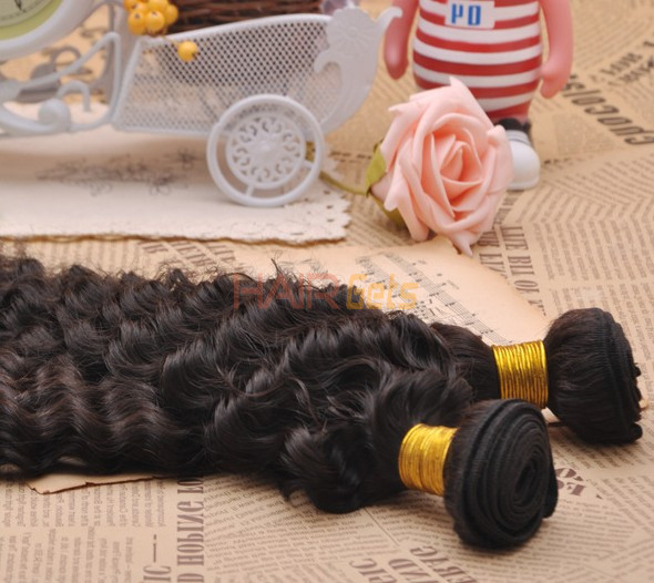 7A Virgin Brazilian Hair Extensions Water Wave Natural Black 1