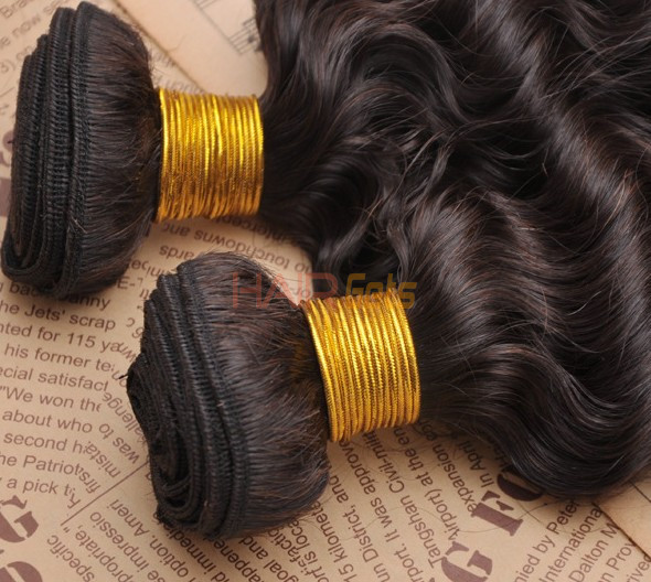 7A Virgin Brazilian Hair Extensions Water Wave Natural Black 3
