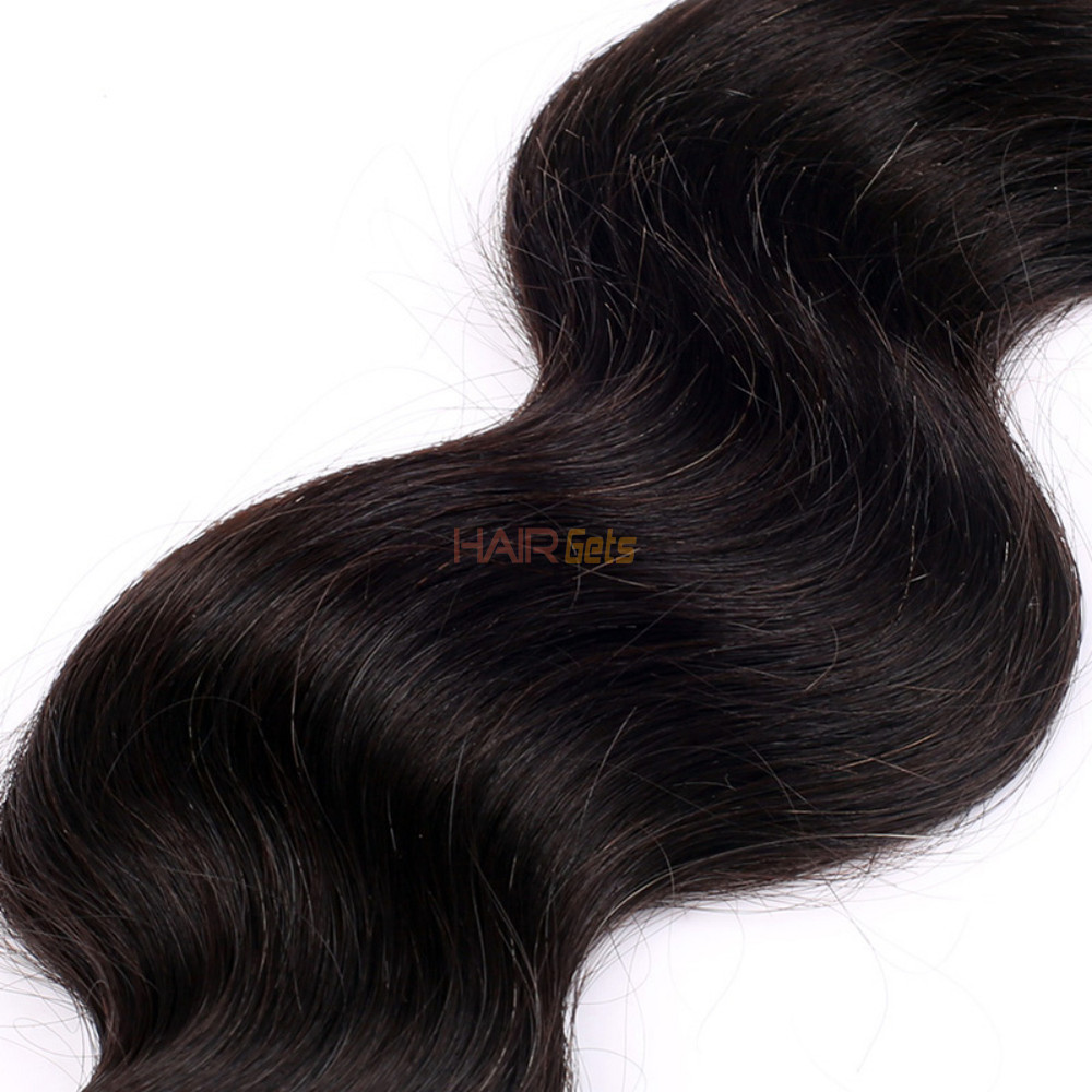 1 pcs 7A Virgin Brazilian Hair Extensions Body Wave Natural Black 0