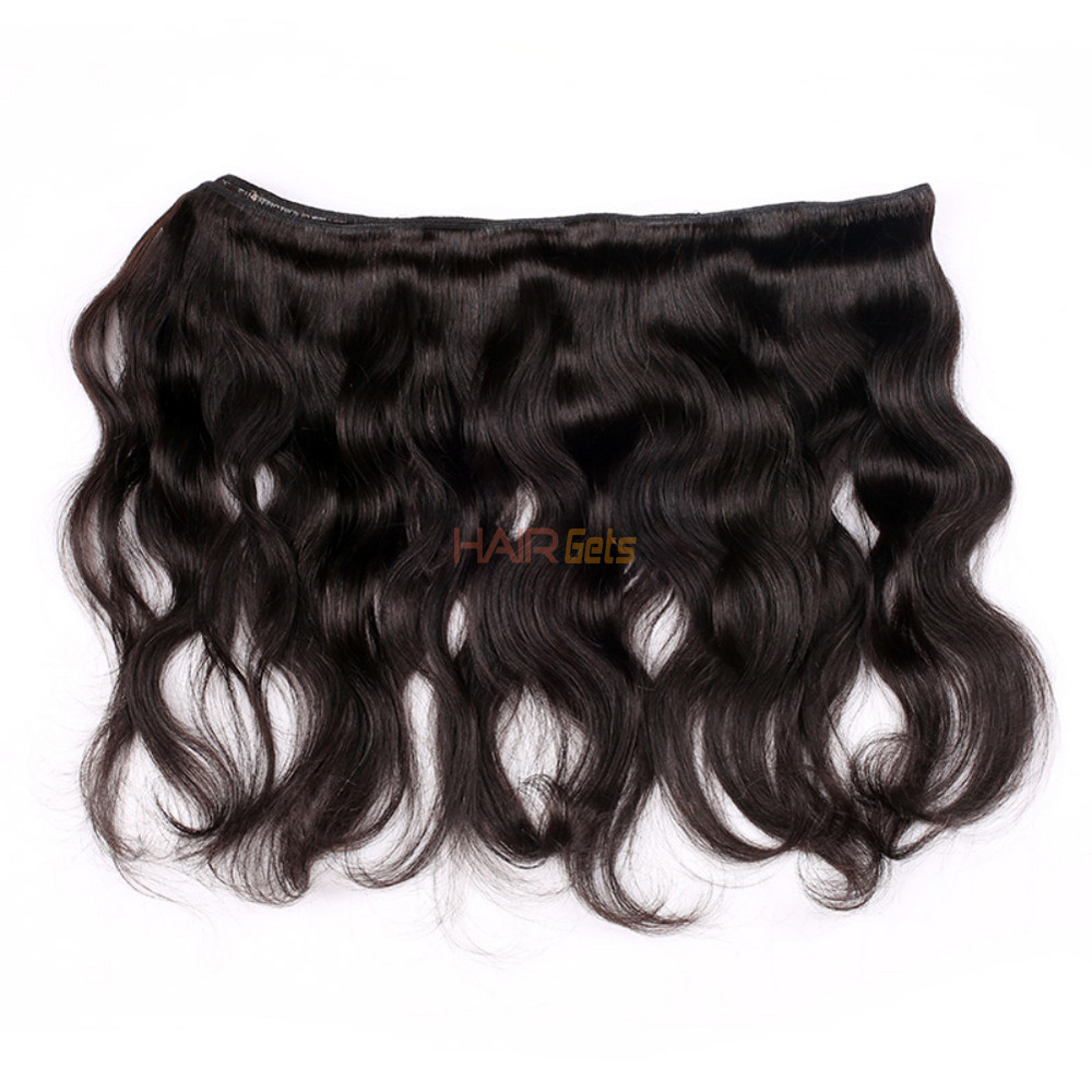 1 pcs 7A Virgin Brazilian Hair Extensions Body Wave Natural Black 1