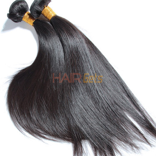 4 Bundles Natural Black 8A Silky Straight Virgin Brazilian Hair Weave 1