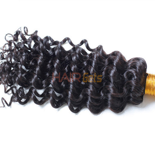 Virgin Brazilian Deep Wave Hair Bundles Natural Black 1pcs 0