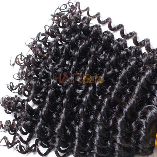 Virgin Brazilian Deep Wave Hair Bundles Natural Black 1pcs 1