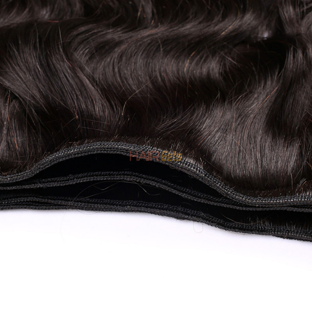 Virgin Brazilian Deep Wave Hair Bundles Natural Black 1pcs 2