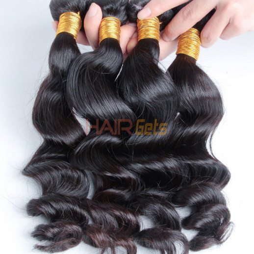 2 Bundles Loose Wave Natural Black 8A Brazilian Hair Weave 0