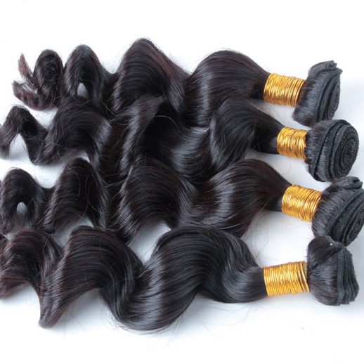 3 pcs/lot Natural Black 8A Loose Brazilian Virgin Hair Weave bhw004 0