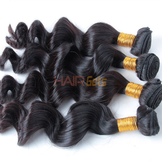 3 pcs/lot Natural Black 8A Loose Brazilian Virgin Hair Weave 0