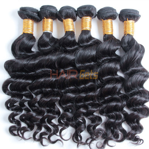 2 pcs Natural Wave 8A Natural Black Brazilian Virgin Hair Weave 0