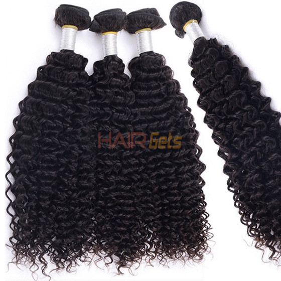 2 pcs/lot Kinky Curly Natural Black 8A Brazilian Virgin Hair Weave All Inch 0
