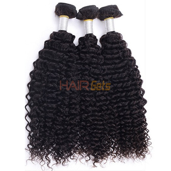 4 pcs/lot 8A Brazilian Virgin Hair Weave Kinky Curly Natural Black 0