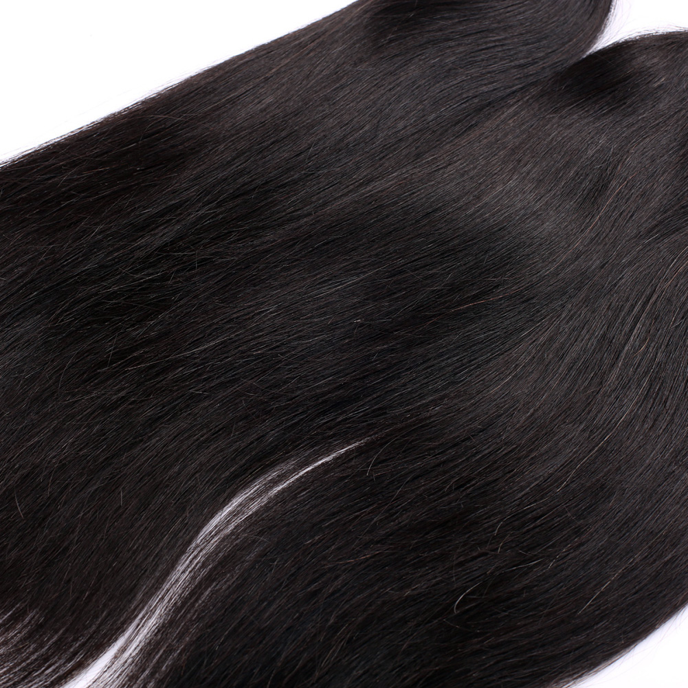 4 Bundles 7A Virgin Brazilian Hair Weave Straight Natural Black bhw031 0