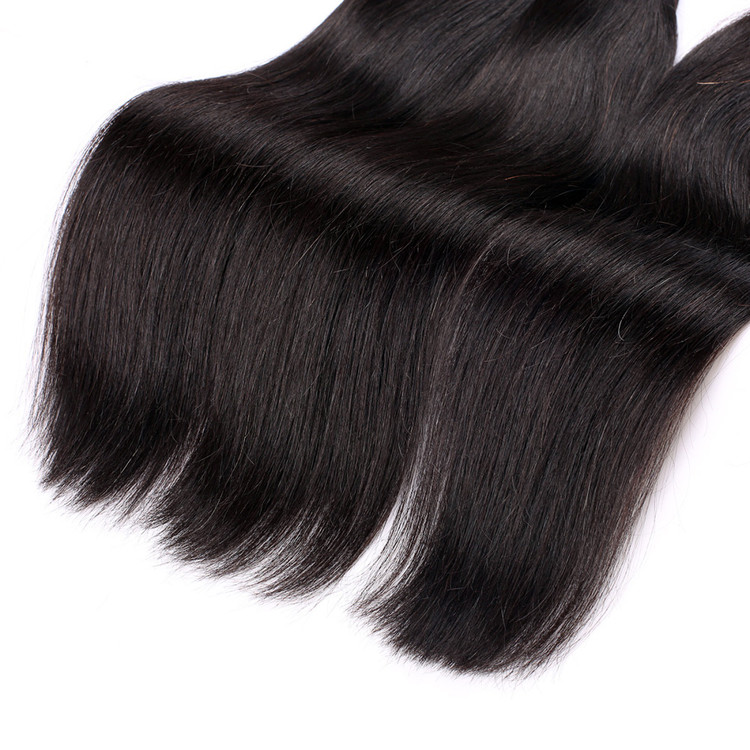 4 Bundles 7A Virgin Brazilian Hair Weave Straight Natural Black bhw031 1
