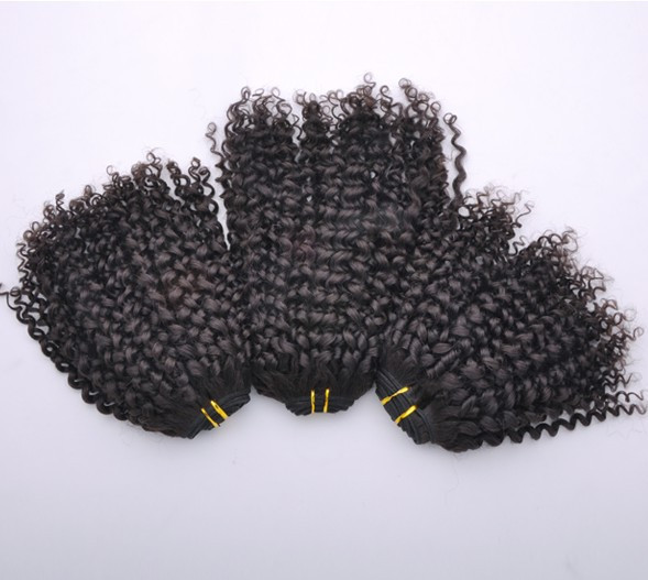 7A Virgin Indian Hair Extensions Kinky Curl Natural Black ihw014 4