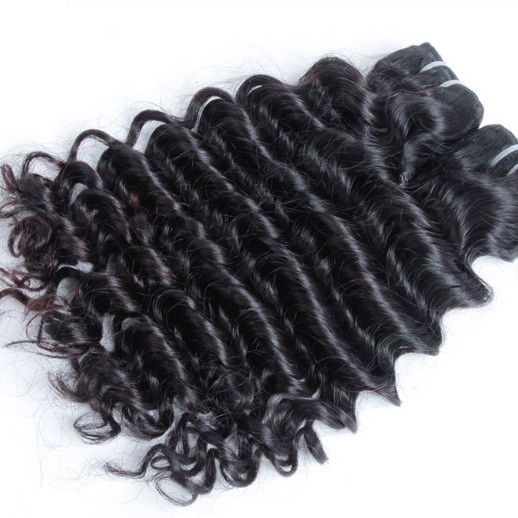 1 pcs 7A Virgin Indian Hair Extensions Deep Wave Natural Black ihw009 0