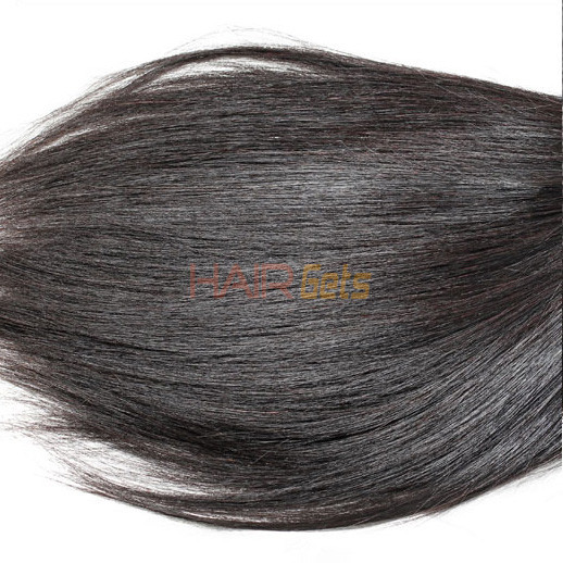 1pcs 7A Virgin Indian Hair Silky Straight Natural Black 0
