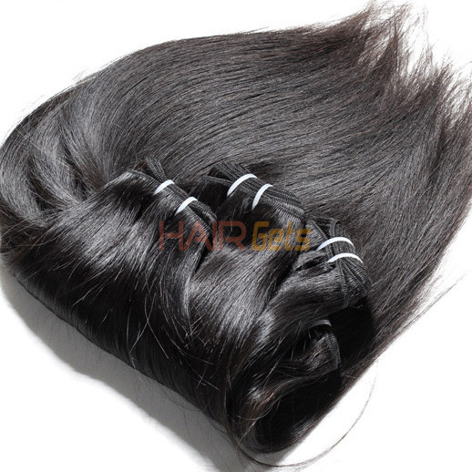 1pcs 7A Virgin Indian Hair Silky Straight Natural Black 2