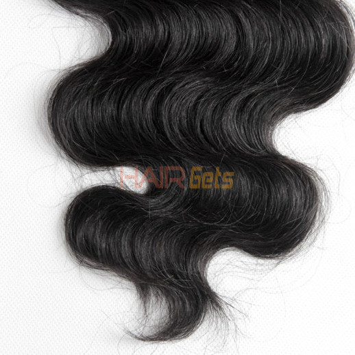 2pcs 7A Body Wave Virgin Indian Hair Weave Natural Black 0