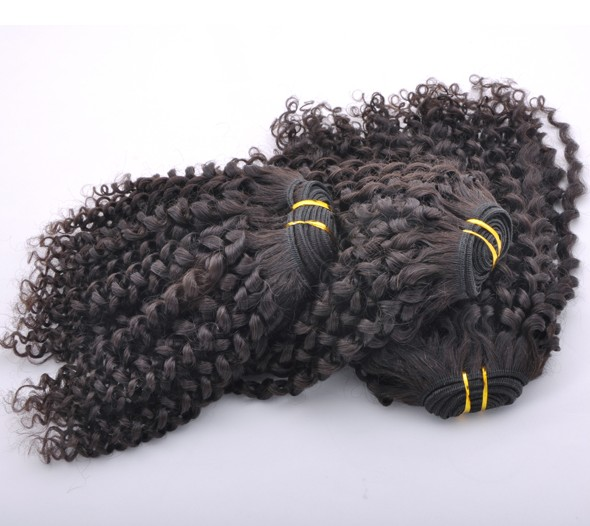 7A Malaysian Virgin Hair Weave Kinky Curl Natural Black mhw017 0
