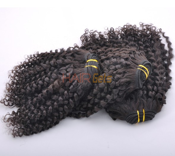 7A Malaysian Virgin Hair Weave Kinky Curl Natural Black 0