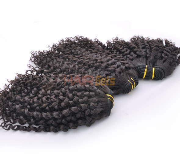 7A Malaysian Virgin Hair Weave Kinky Curl Natural Black 1