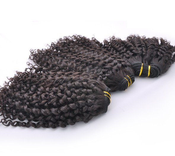 7A Malaysian Virgin Hair Weave Kinky Curl Natural Black mhw017 1