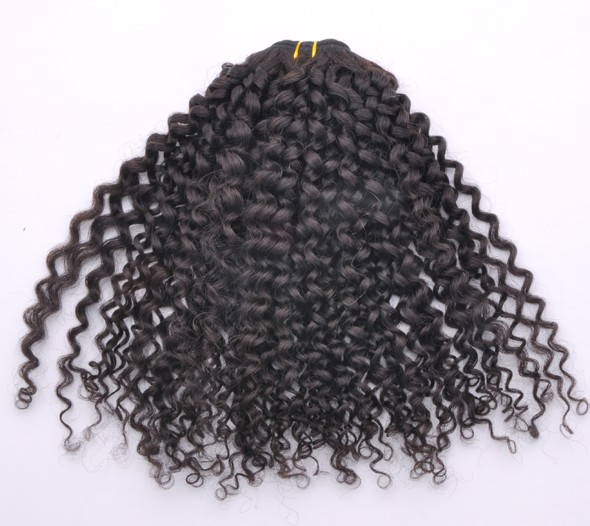 7A Malaysian Virgin Hair Weave Kinky Curl Natural Black mhw017 2