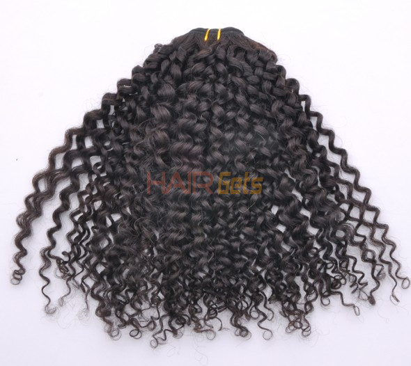 7A Malaysian Virgin Hair Weave Kinky Curl Natural Black 2
