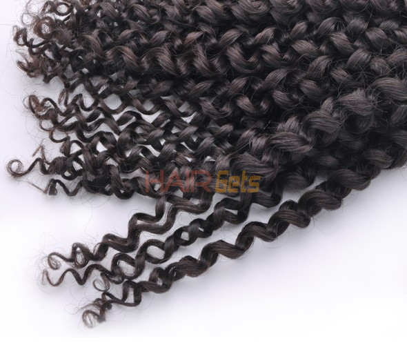 7A Malaysian Virgin Hair Weave Kinky Curl Natural Black 3