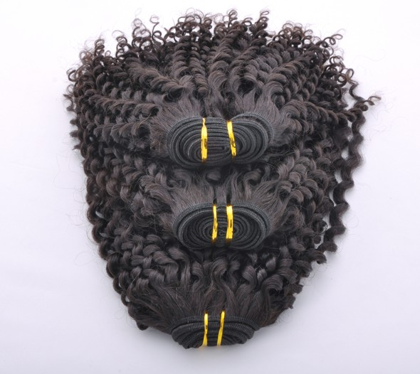 7A Malaysian Virgin Hair Weave Kinky Curl Natural Black mhw017 4